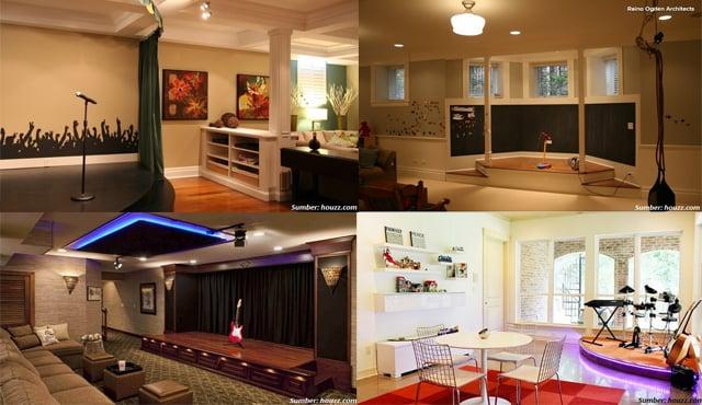 Desain Interior Rumah Panggung Minimalis  panggung mini di rumah hadirkan suasana konser mewah