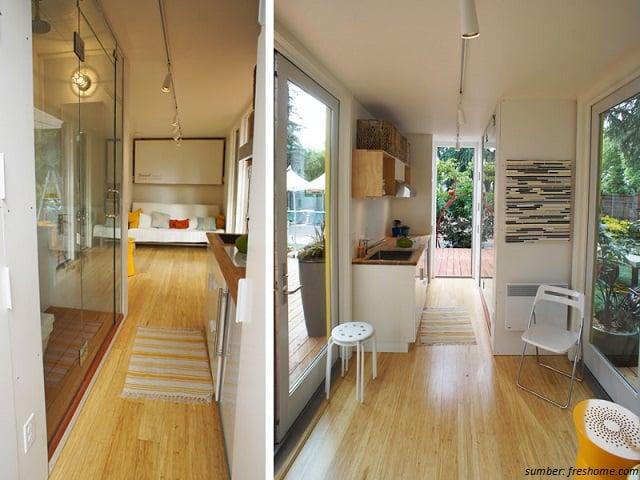 interior rumah kontainer simpel