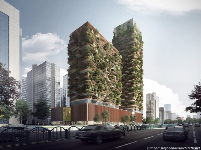 Bangunan Unik Nanjing Green Towers