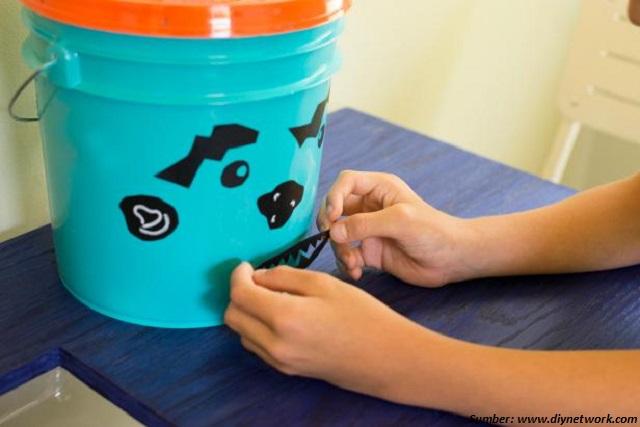cara membuat ember dari plastik bekas