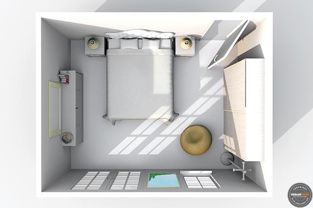 Desain Kamar Tidur Sempit Tanpa Jendela  cara jitu menata kamar tidur mungil rumah minimalis