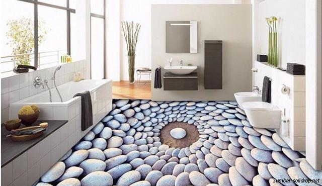 Lantai 3 Dimensi Dekorasi 3d Ciamik Untuk Pemanis Interior Rumah