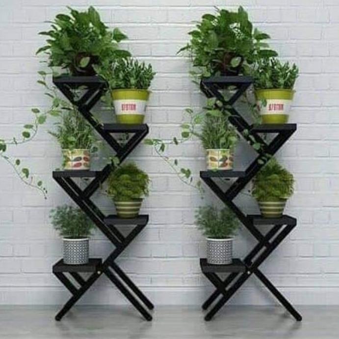 8 Model Rak Bunga Besi Untuk Dekorasi Interior Eksterior Rumah